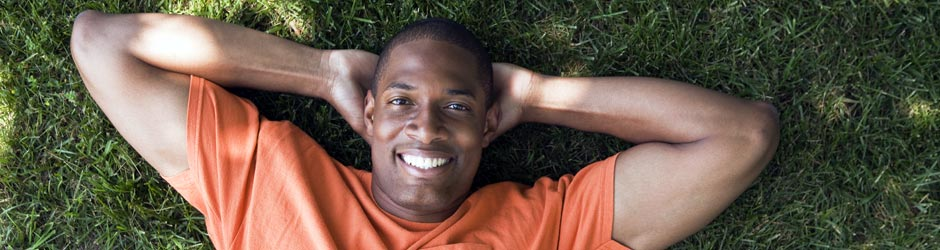 man relaxing and free from stress thanks to stress management services