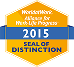 World at Work Alliance for Work-Life Progress 2015 Seal of Distinction